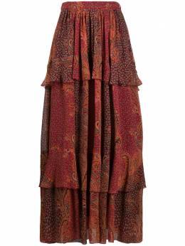 Etro юбка макси с узором пейсли 189025095