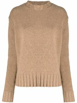 Victoria Beckham свитер свободного кроя с круглым вырезом 1320KJU001671A