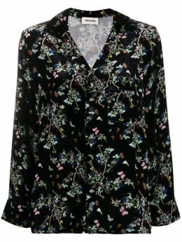 Zadig & Voltaire рубашка с длинными рукавами и цветочным принтом WJCP0504F