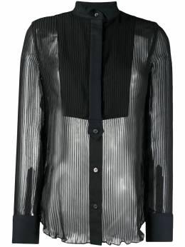 Sacai рубашка с прозрачной вставкой 2005187