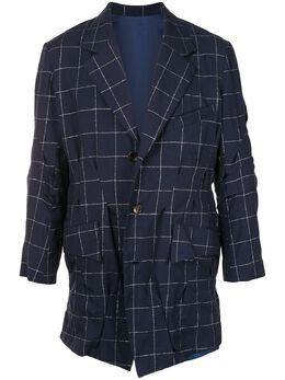 Sulvam однобортный пиджак в клетку SMJ07200