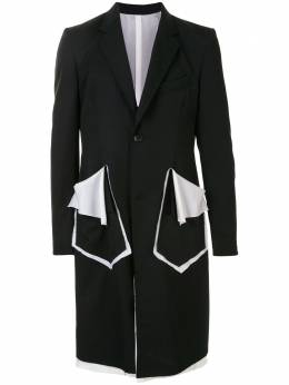 Sulvam пальто с контрастной отделкой SMJ51100