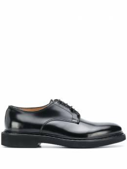 Premiata туфли на шнуровке с миндалевидным носком 30927