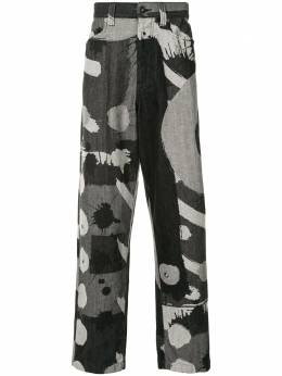 Homme Plisse Issey Miyake джинсы свободного кроя с абстрактным принтом HP09FF025