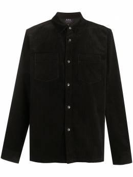 A.P.C. вельветовая рубашка с накладным карманом COEHRH02486