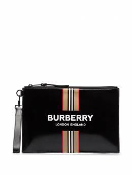 Burberry клатч с логотипом 8030735
