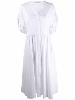 Vivetta платье-рубашка с искусственным жемчугом H1310650