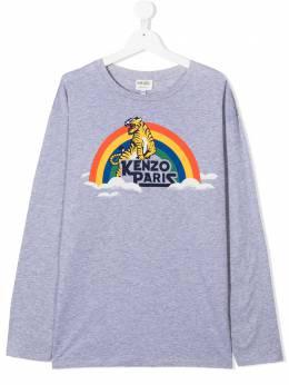 Kenzo Kids рубашка с принтом Tiger KR10778