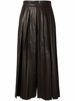 Goen.J плиссированная юбка из искусственной кожи GJ20PFPT04