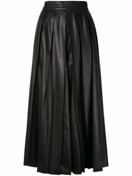 Goen.J расклешенная юбка миди со складками GJ20PFPT04