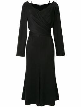 Goen.J платье с кружевом и запахом GJ20PFDS09