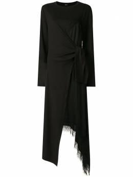 Goen.J многослойное платье с кружевом GJ20PFDS15