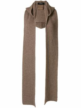 Goen.J шарф в рубчик с капюшоном GJ20PFACC02