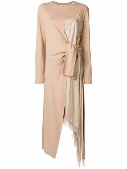 Goen.J платье из джерси на бретелях со вставками GJ20PFDS15