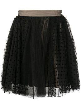 Brognano кружевная юбка в горох 29BR1D02