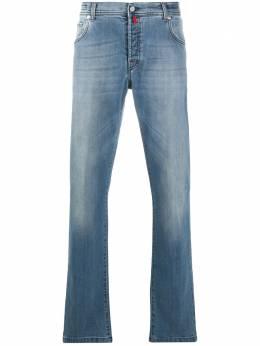 Kiton джинсы bootcut с эффектом потертости UPNJSJ06P640