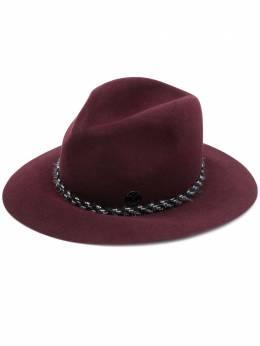 Maison Michel шляпа-федора с плетением 1002088001