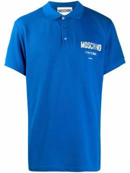 Moschino рубашка поло с логотипом A12085242