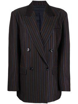 Acne Studios двубортный пиджак в полоску AH0101