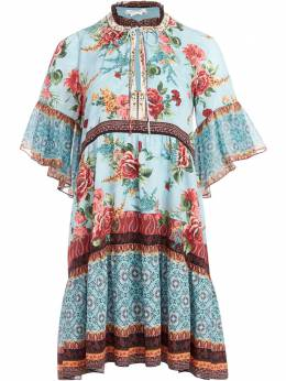 Alice + Olivia ярусное платье с цветочным принтом CC007P03508