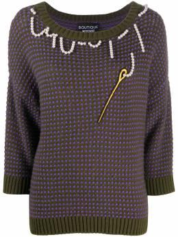 Boutique Moschino трикотажный джемпер с вышивкой A09256103