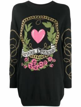Boutique Moschino платье-джемпер с вышитым логотипом J04826100