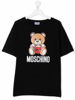 Moschino Kids футболка Signature Teddy H6M029LBA11