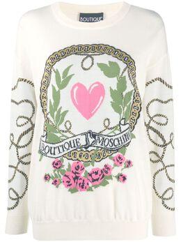 Boutique Moschino джемпер с вышитым логотипом J09086100