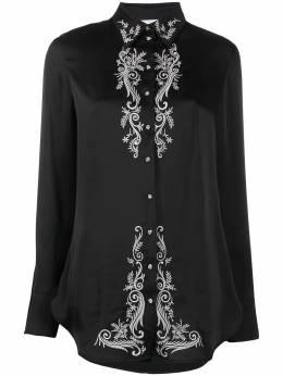 Paco Rabanne рубашка с цветочной вышивкой 19HCCE015PO0001