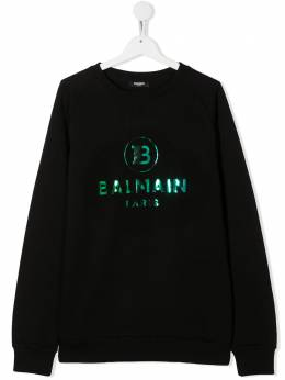 Balmain Kids толстовка с круглым вырезом и логотипом 6N4660NX300
