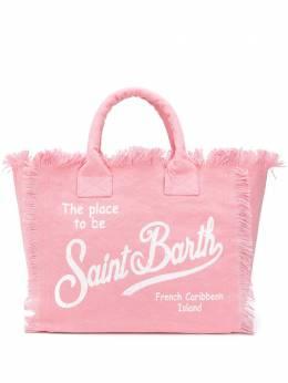 Mc2 Saint Barth парусиновая пляжная сумка с логотипом VANI00121