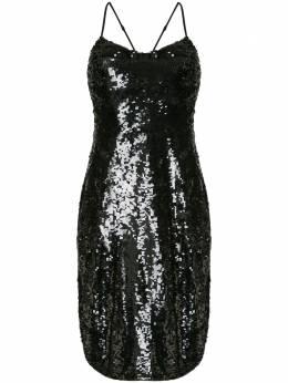 Nili Lotan платье-трапеция с пайетками 11091W679