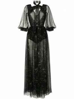 Saiid Kobeisy прозрачное платье с открытой спиной CAPS2018