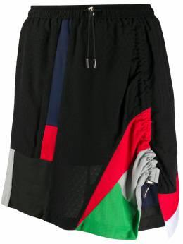 Koche юбка мини с драпировкой и контрастными вставками KMS20SK02VI033