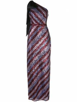 Marchesa Notte вечернее платье с пайетками N41G1956