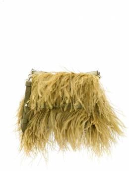 Marques'Almeida сумка на плечо с перьями PRE20AC0128LTH
