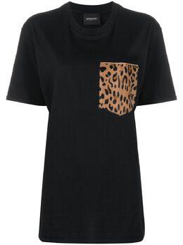 Simonetta Ravizza футболка с леопардовым принтом на кармане TSHIRTY