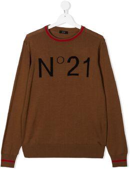 No.21 Kids джемпер с логотипом N214DNN0122