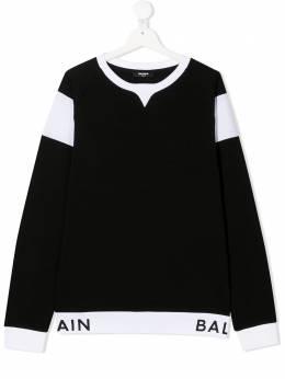 Balmain Kids свитер с логотипом 6N4720NX300
