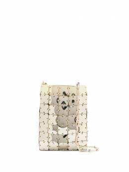Paco Rabanne сумка на плечо с эффектом металлик 20ESS0143MET110