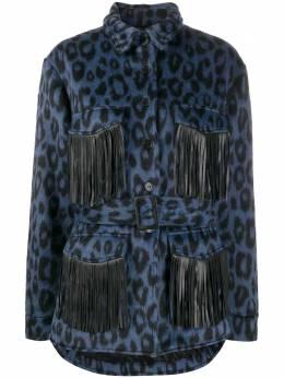 Andamane куртка Vita с бахромой и леопардовым принтом L02J5901206