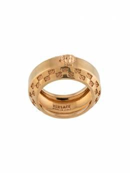 Versace кольцо Tribute с тисненым логотипом DG58098DJMT