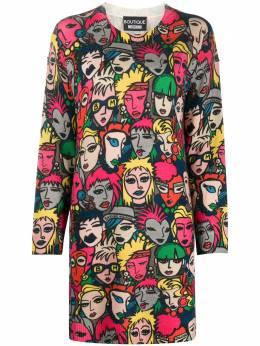Boutique Moschino платье мини с принтом A04855806