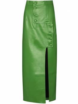 Materiel юбка-карандаш из искусственной кожи с пуговицами FW20TAM17402SKGR