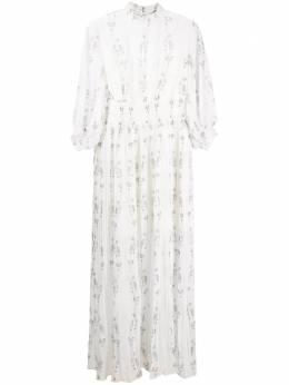 Allsaints плиссированное платье с принтом DELFIWD259S