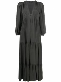 Allsaints tiered empire-waist dress LEAWD335S