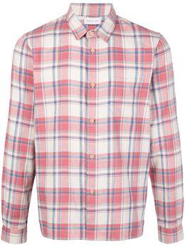 John Elliott клетчатая рубашка прямого кроя SLYCOTTONSTRAIGHTHEM