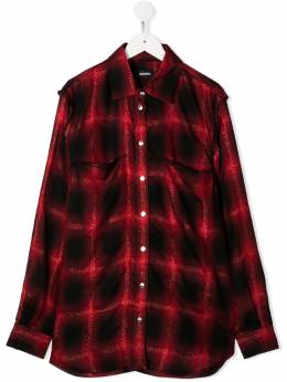 Diesel Kids рубашка с длинными рукавами в клетку 00J50VKXB24