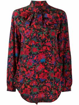 Rag&Bone блузка с бантом и цветочным принтом WAW20FA0627K62