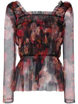 Molly Goddard блузка с цветочным принтом и завязками на спине MGAW2043SHELBYTOP
